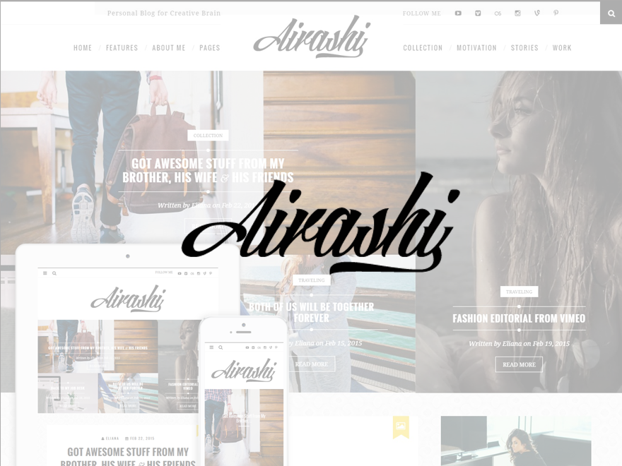 Airashi | Clean Personal WordPress Blog Theme