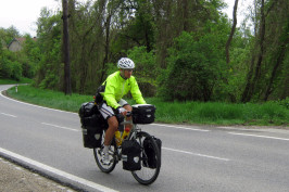 Karol cycling in Austria