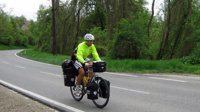 Karol cycling in Austria