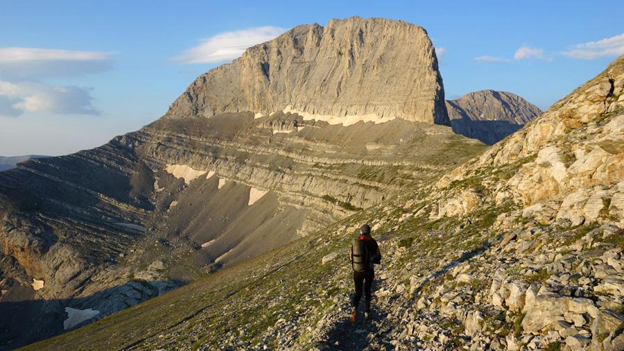 Heni hiking in mountains