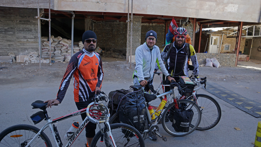 Iranian guy Mashad cyclist