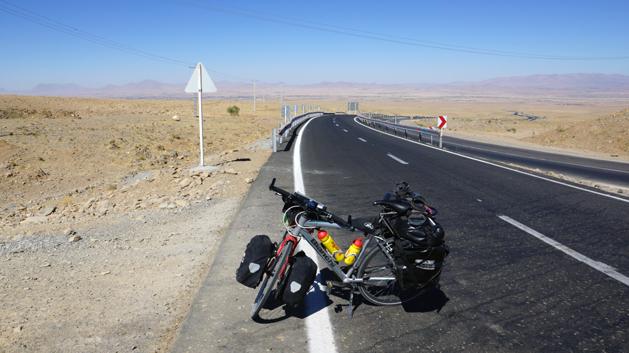 Cycling across Iran